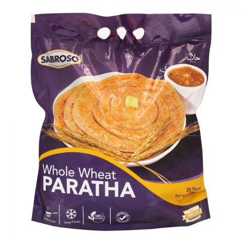 Sabroso Whole Wheat Paratha 30`s 2400g
