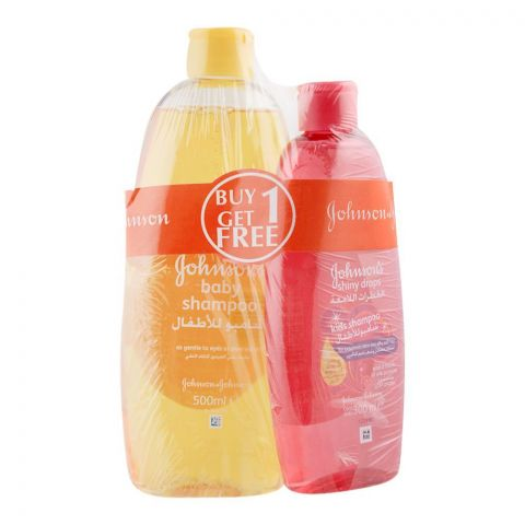 Johnson's Baby Shampoo 500ml + FREE Johnson's Shiny Drop Kids Shampoo