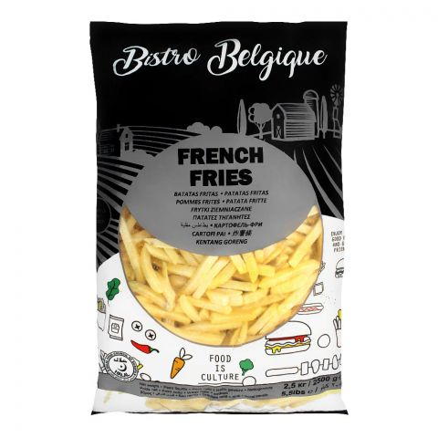 Bistro Belgique French Fries, 9x9mm, 2.5 KG