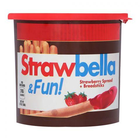 Strawbella & Fun! Strawberry Spread & Breadsticks, 50g