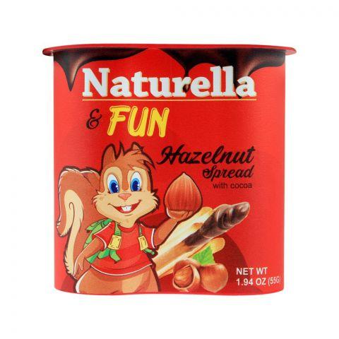Naturella Fun Hazelnut Cocoa Spread, 55g