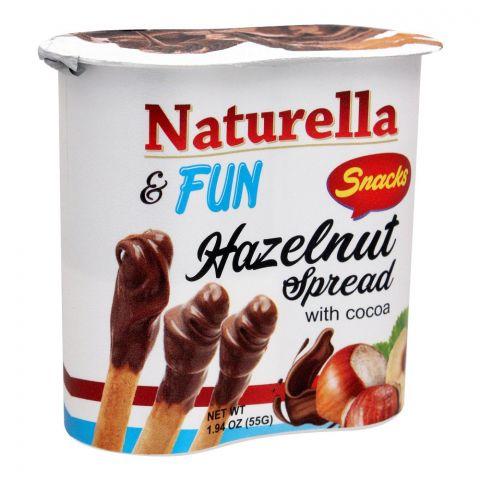 Naturella & Fun Hazelnut Cocoa Spread Snacks, 55g