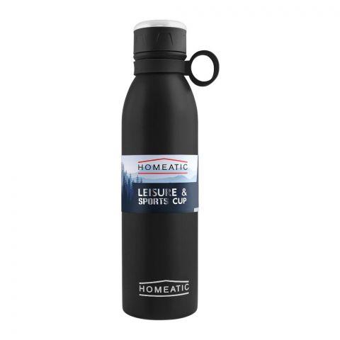 Homeatic Steel Sports Water Bottle, Black, 750ml, KA-030-7750
