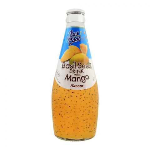 Jus Cool Basil Seed Drink With Mango Flavor, 290ml