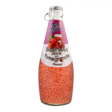 Jus Cool Basil Seed Drink With Pomegranate Flavor, 290ml