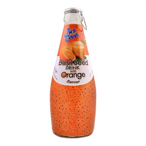 Jus Cool Basil Seed Drink With Orange Flavor, 290ml
