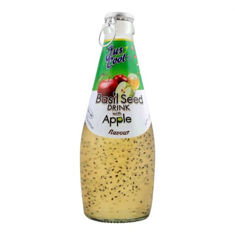 Jus Cool Basil Seed Drink With Apple Drink, 290ml