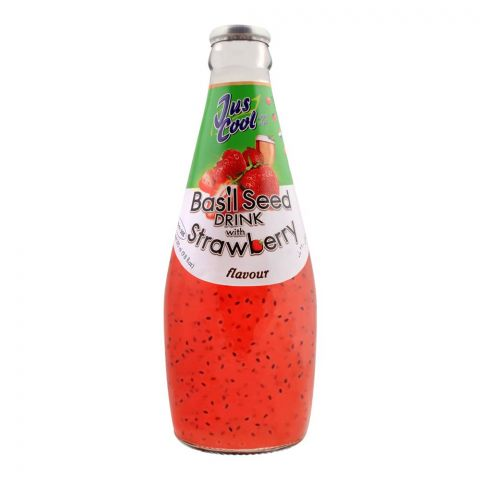 Jus Cool Basil Seed Drink With Strawberry Flavor, 290ml