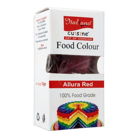 Italiano Food Colour, Allura Red, 10g