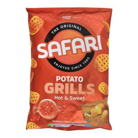 Safari Potato Grills Hot & Sweet Chips, 60g