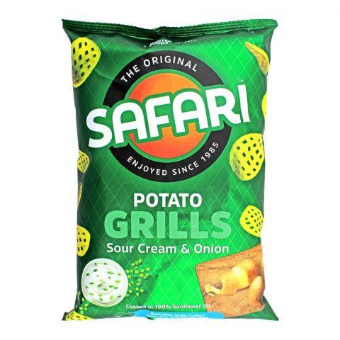Safari Potato Grills Sour Cream & Onion Chips, 60g