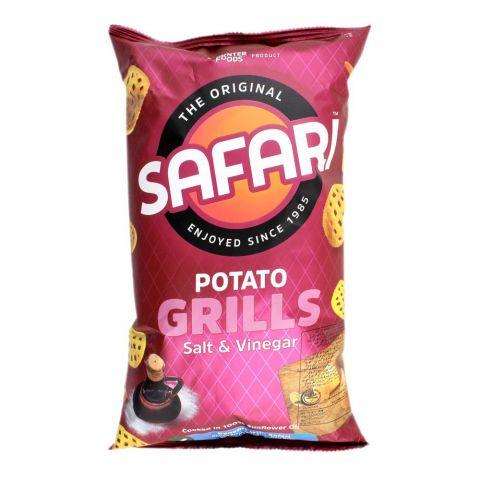 Safari Potato Grills Salt & Vinegar Chips, 125g