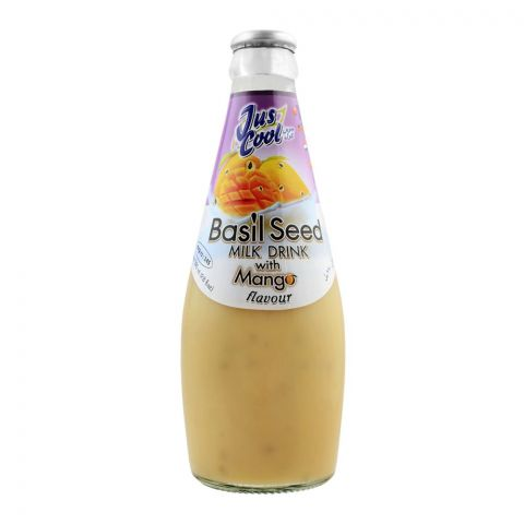 Jus Cool Basil Seed Milk Drink With Mango Flavor, 290ml