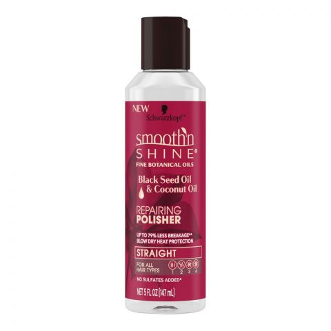 Schwarzkopf Smooth'n Shine Repairing Polisher, Black Seed Oil & Coconut Oil, 147g