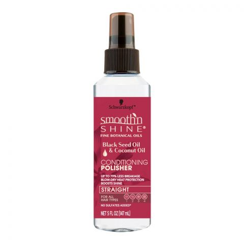 Schwarzkopf Smooth'n Shine Conditioning Polisher, Black Seed Oil & Coconut Oil, 147g