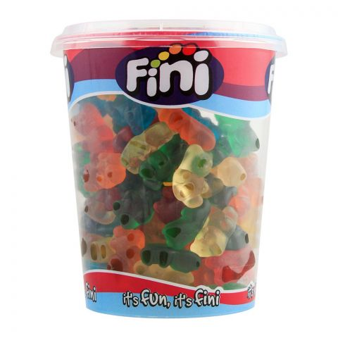 Fini Neon Bears Cup Jelly, Gluten Free, 200g