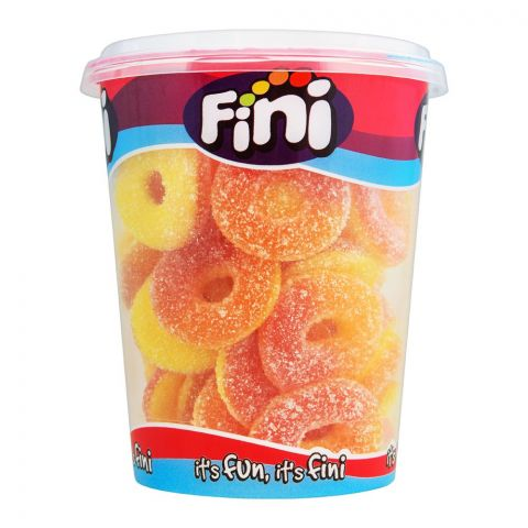 Fini Sour Peach Rings Cup Jelly, Gluten Free, 200g