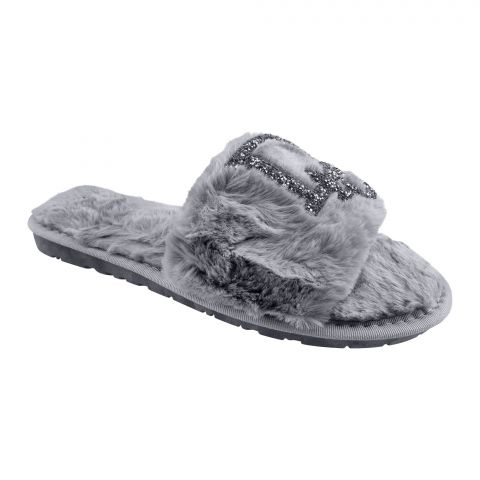 Dior Style Women's Bedroom Slippers, Grey, 1215