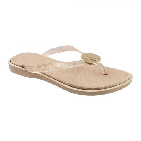 Women's Slippers, A-1, Gold