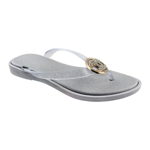 Women's Slippers, A-2, Silver