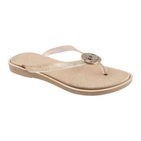 Women's Slippers, A-2, Gold