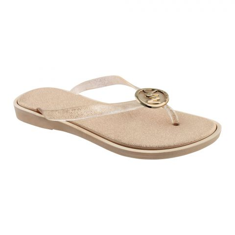 Women's Slippers, A-3, Gold