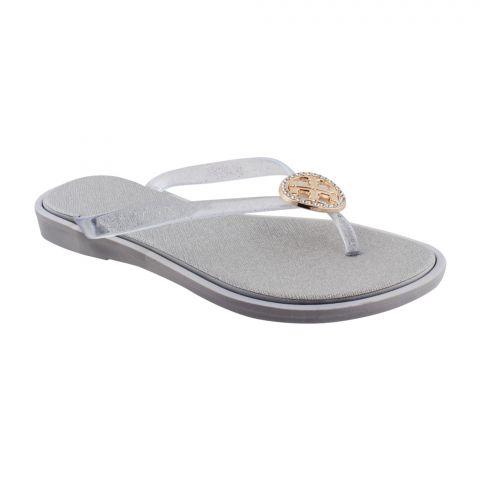 Women's Slippers A-4, Silver