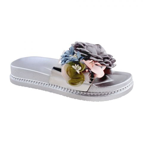 Women's Slippers A-5, Silver
