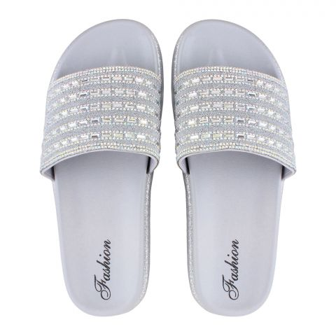 Women's Slippers, A-7, Silver