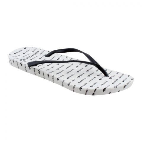 Women's Slippers, C-7, Black/White