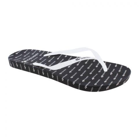 Women's Slippers, C-7, White/Black