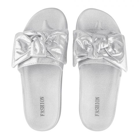 Women's Slippers, B-4, Silver
