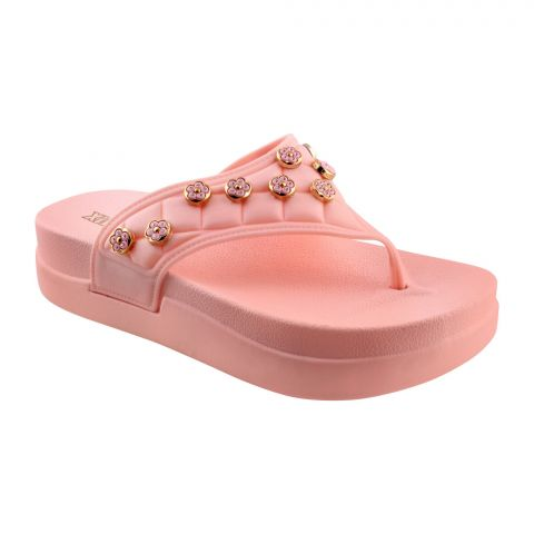 Xinbaijia Women's Slippers, B-7, Pink
