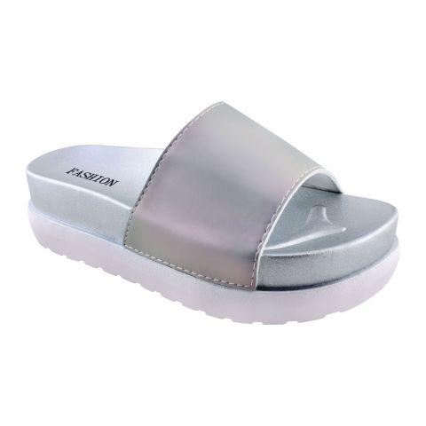 Women's Slippers, B-8, Silver
