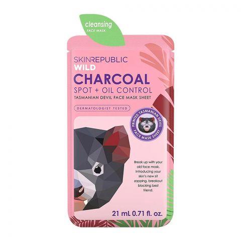 Skin Republic Wild Charcoal Spot + Oil Control Face Mask Sheet, 21ml