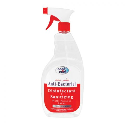 Cool & Cool Anti-Bacterial Disinfectant + Sanitizing Spray 750ml