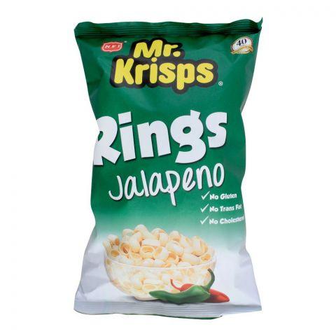 Mr. Krisps Rings, Jalapeno Flavor, Oven Baked, Gluten Free, 80g