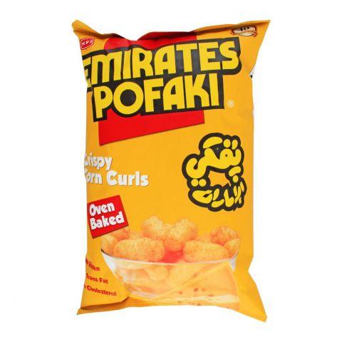 Emirates Pofaki Crispy Corn Curls, Oven Baked, Gluten Free, 80g