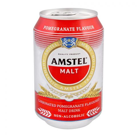 Amstel Malt, Pomegranate Flavor, Non-Alcoholic, 300ml, Can