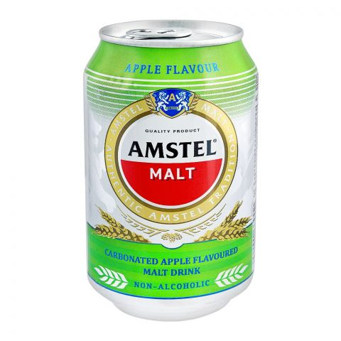 Amstel Malt, Apple Flavor, Non-Alcoholic, 300ml, Can