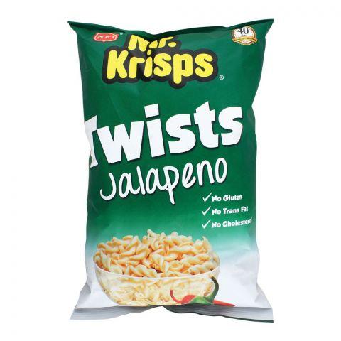 Mr. Krisps Twists, Jalapeno Flavor, Oven Baked, Gluten Free, 80g