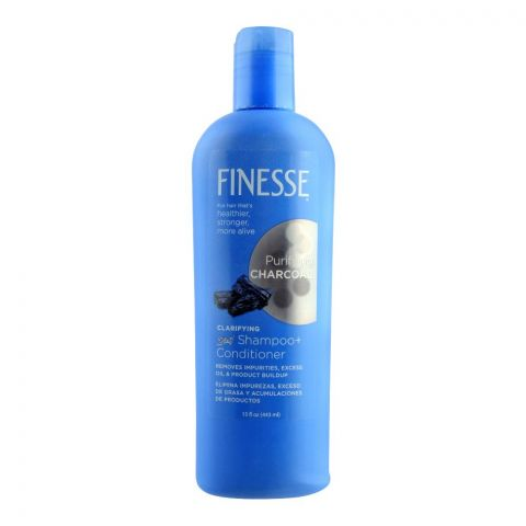 Finesse Purifying Charcoal Clarifying 2-In-1 Shampoo + Conditioner, 15oz