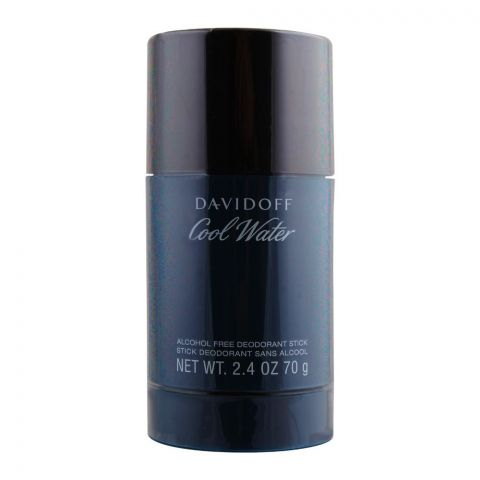 Davidoff Cool Water Alcohol Free Deodorant Stick For Men, 70g