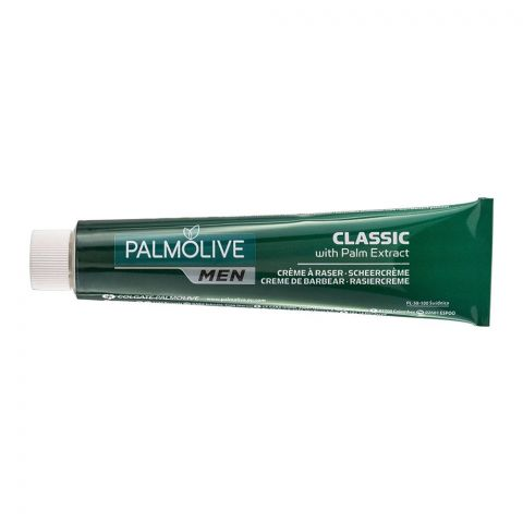 Palmolive Men Shave Cream, Classic With Palm Extract, 100ml