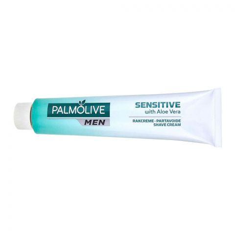 Palmolive Men Shave Cream, Sensitive With Aloe Vera, 100ml