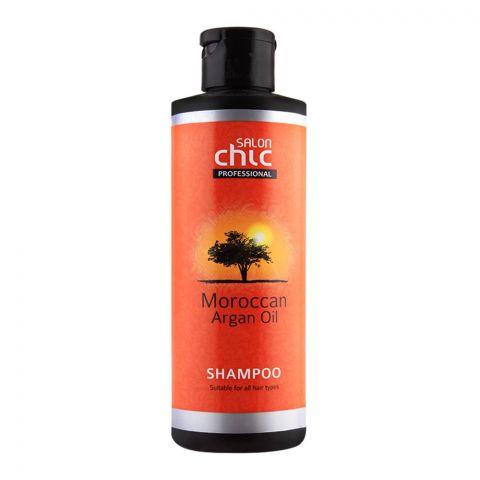 Salon Chic Professional Moroccan Argan Oil Shampoo, All Hair Types, 250ml