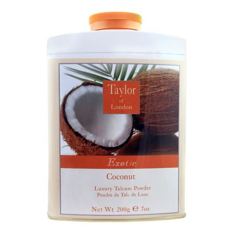 Taylor Of London Exotic Coconut Luxury Talcum Powder, 200g