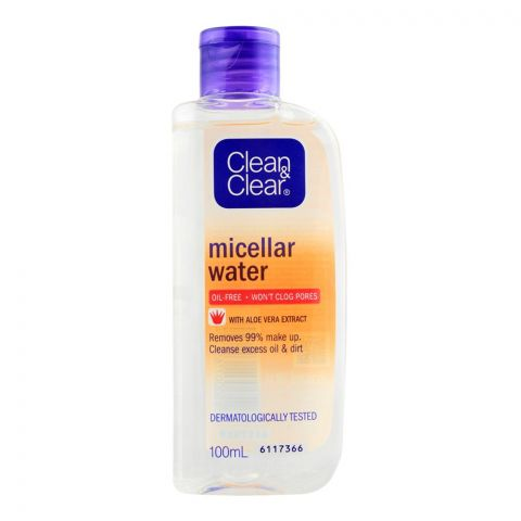 Clean & Clear Oil Free Micellar Water, 100ml
