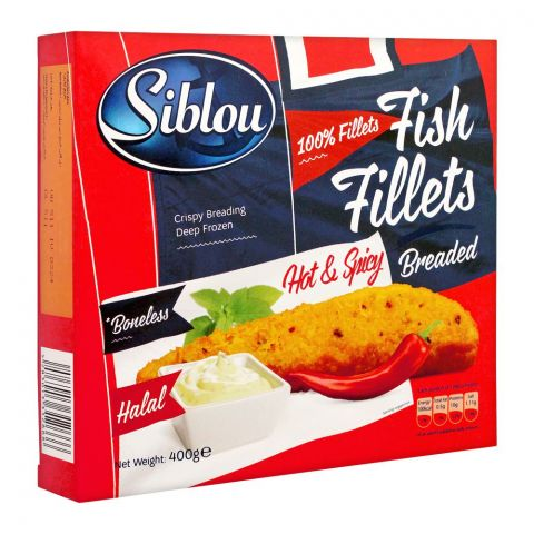 Siblou Hot & Spicy Breaded Fish Fillets, 400g
