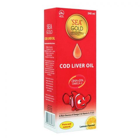 Sea Gold COD Liver Oil, Lemon Flavour, 240ml